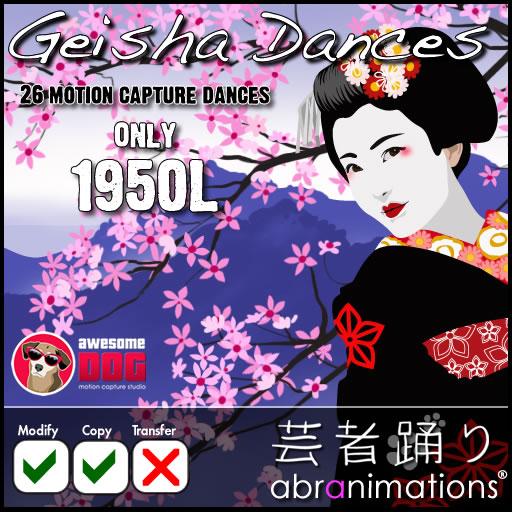 geisha dance pack