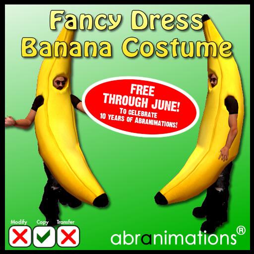 banana costume box